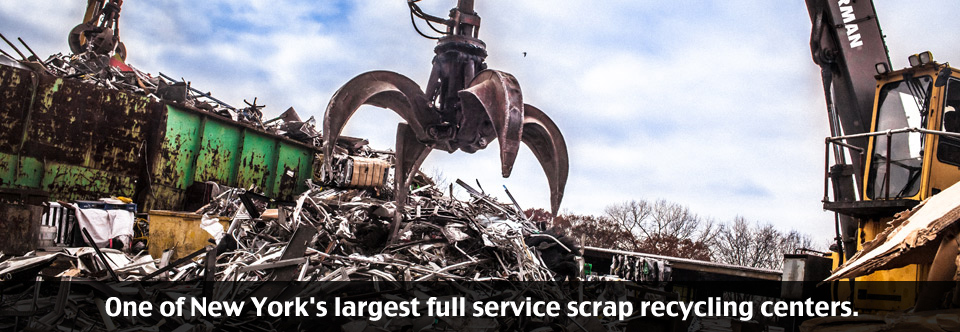 One of New York's largest full service scrap recycling centers.
