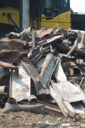 Large scrap metal pieces